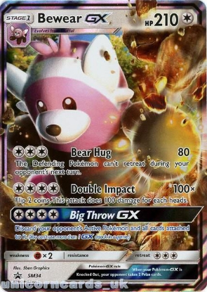 Picture of Bewear GX SM34 JUMBO OVERSIZED Holofoil Mint Pokemon Card