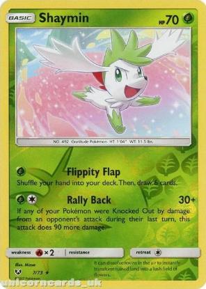Picture of 7/73 Shaymin Reverse Holo Mint Pokemon Card [Shining Legends]