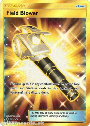 Picture of Field Blower 163/145 Guardians Rising  Rare Secret Mint Pokemon Card