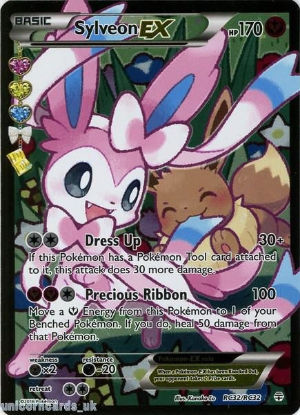 Picture of Radiant Collection RC32/RC32 Sylveon EX Rare Ultra Holo Mint Pokemon Card