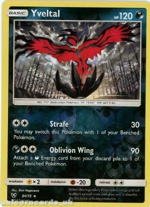 Picture of 54/73 Yveltal Reverse Holo Mint Pokemon Card [Shining Legends]