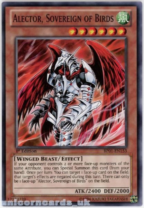 Picture of BP01-EN153 Alector, Sovereign of Birds 1st Edition Mint YuGiOh Card