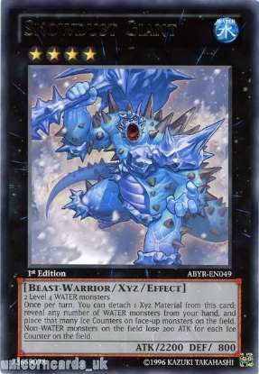 Picture of ABYR-EN049 Snowdust Giant Rare 1st Edition Mint YuGiOh Card