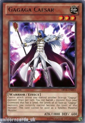Picture of ABYR-EN001 Gagaga Caesar Rare 1st Edition Mint YuGiOh Card