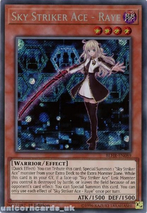 Picture of BLHR-EN089 Sky Striker Ace - Raye Secret Rare 1st Edition Mint YuGiOh Card