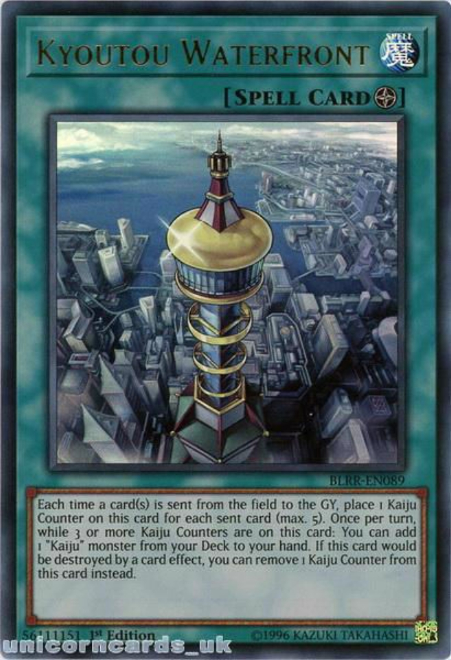 En Ultra Rare Yugioh Kyoutou Waterfront 1st Edition Near Mint BLRR-EN089