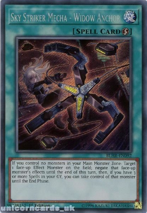 Picture of BLHR-EN092 Sky Striker Mecha - Widow Anchor Secret Rare 1st Edition Mint YuGiOh Card