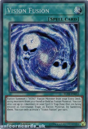 Picture of BLHR-EN012 Vision Fusion Secret Rare 1st Edition Mint YuGiOh Card