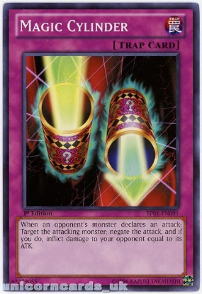 Picture of BP01-EN091 Magic Cylinder 1st Edition Mint YuGiOh Card