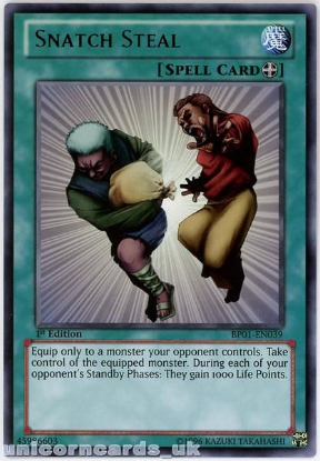 Picture of BP01-EN039 Snatch Steal Rare 1st Edition Mint YuGiOh Card