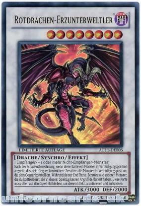 Picture of AC11-DE006 Red Dragon Archfiend Ultra Rare UK Legal GERMAN YuGiOh Card