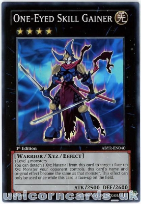 Picture of ABYR-EN040 One-Eyed Skill Gainer Super Rare 1st Edition Mint YuGiOh Card