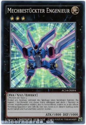 Picture of AC14-DE004 Mechquipped Angineer Super Rare UK Legal GERMAN YuGiOh Card