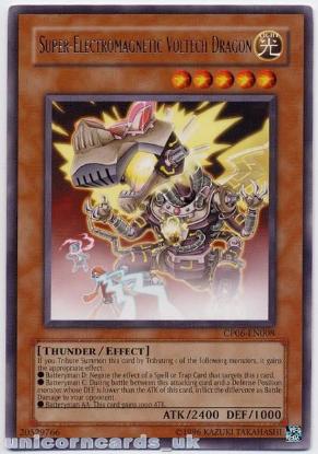 Picture of CP06-EN008 Super-Electromagnetic Voltech Dragon Rare Mint YuGiOh Card