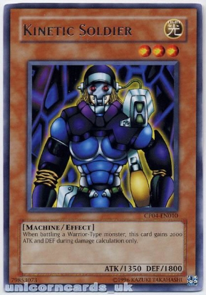 Picture of CP04-EN010 Kinetic Soldier Rare Mint YuGiOh Card