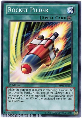 Picture of BP02-EN157 Rocket Pilder 1st Edition Mint YuGiOh Card