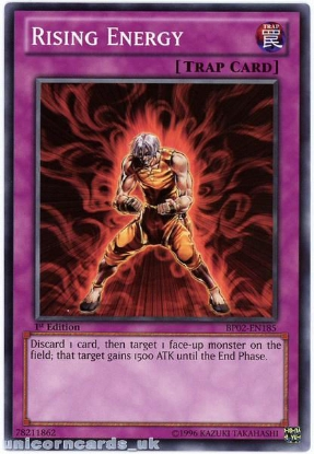 Picture of BP02-EN185 Rising Energy 1st Edition Mint YuGiOh Card