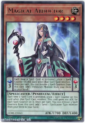 Picture of CORE-EN041 Magical Abductor Rare 1st edition Mint YuGiOh Card