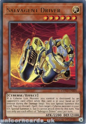 Picture of COTD-EN005 Salvagent Driver Ultra Rare UNL Edition Mint YuGiOh Card