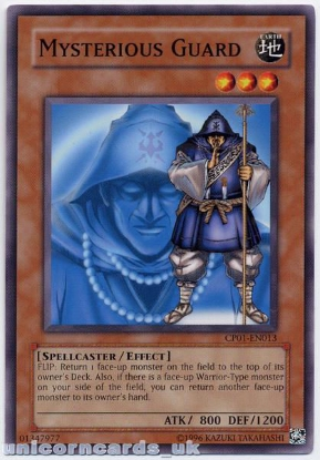 Picture of CP01-EN013 Mysterious Guard Mint Yu-Gi-Oh! Card
