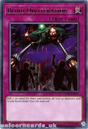 Picture of COTD-EN079 Blind Obliteration Rare UNL Edition Mint YuGiOh Card