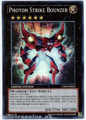 Picture of CT09-EN022 Photon Strike Bounzer Super Rare Limited Edition Mint YuGiOh Card