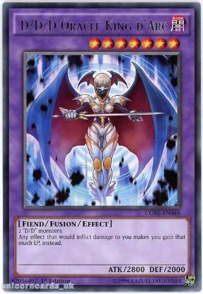 Picture of CORE-EN046 D/D/D Oracle King d'Arc Rare 1st edition Mint YuGiOh Card