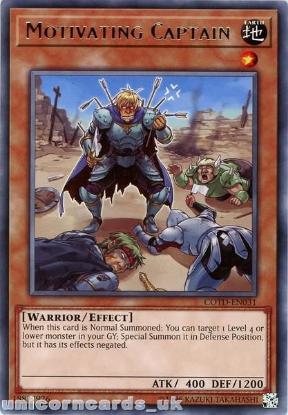 Picture of COTD-EN031 Motivating Captain Rare UNL Edition Mint YuGiOh Card