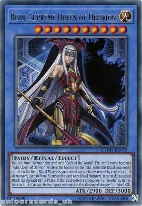Picture of CYHO-EN029 Ruin, Supreme Queen of Oblivion Rare UNL Edition Mint YuGiOh Card