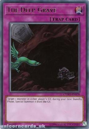 Picture of CYHO-EN078 The Deep Grave Rare UNL Edition Mint YuGiOh Card