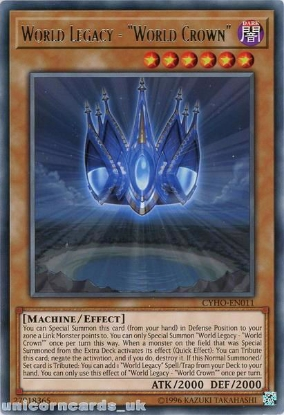 Picture of CYHO-EN011 World Legacy - World Crown Rare UNL Edition Mint YuGiOh Card