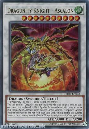 Picture of CYHO-EN033 Dragunity Knight - Ascalon Ultra Rare UNL Edition Mint YuGiOh Card