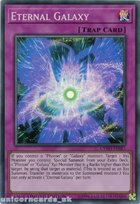 Picture of CYHO-ENSE3 Eternal Galaxy Super Rare Limited Edition Mint YuGiOh Card
