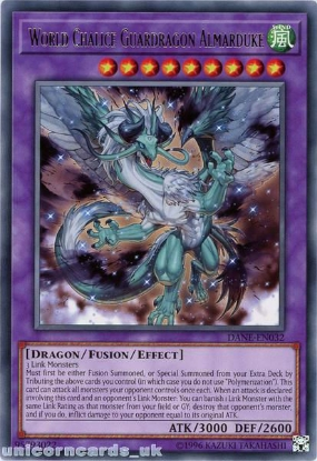 Picture of DANE-EN032 World Chalice Guardragon Almarduke Rare UNL Edition Mint YuGiOh Card