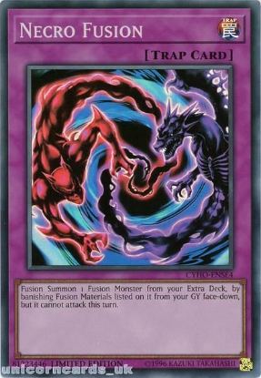 Picture of CYHO-ENSE4 Necro Fusion Super Rare Limited Edition Mint YuGiOh Card