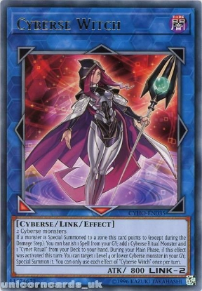 Picture of CYHO-EN035 Cyberse Witch Rare UNL Edition Mint YuGiOh Card