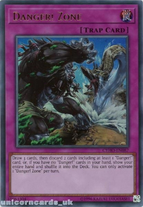 Picture of CYHO-EN087 Danger! Zone Ultra Rare UNL Edition Mint YuGiOh Card