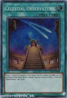 Picture of CYHO-EN064 Celestial Observatory Secret Rare UNL Edition Mint YuGiOh Card