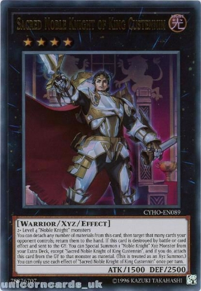 Picture of CYHO-EN089 Sacred Noble Knight of King Custennin Ultra Rare UNL Edition Mint YuGiOh Card
