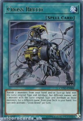 Picture of CYHO-EN066 Cross Breed Rare UNL Edition Mint YuGiOh Card