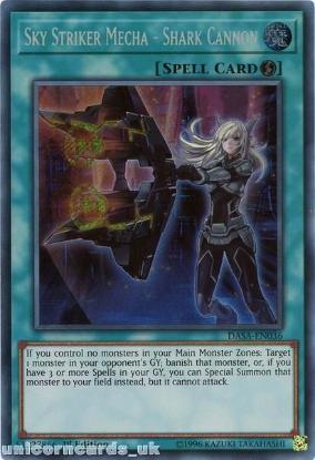 Picture of DASA-EN036 Sky Striker Mecha - Shark Cannon Secret Rare 1st Edition Mint YuGiOh Card