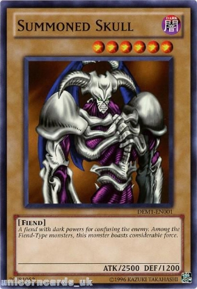 Picture of DEM1-EN001 Summoned Skull Mint YuGiOh Card