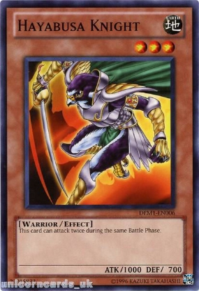 Picture of DEM1-EN006 Hayabusa Knight Mint YuGiOh Card