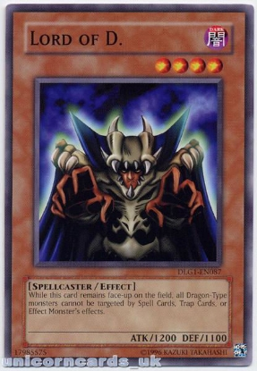Picture of DLG1-EN087 Lord of D. Mint Yu-Gi-Oh! Card