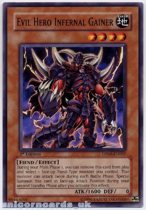 Picture of DP06-EN007 Evil Hero Infernal Gainer 1st Ediiton Mint YuGiOh Card