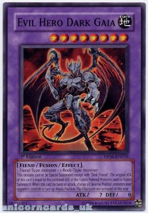 Picture of DP06-EN010 Evil Hero Dark Gaia 1st Edition Mint YuGiOh Card