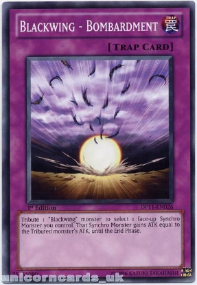 Picture of DP11-EN026 Blackwing - Bombardment 1st Edition Mint YuGiOh Card
