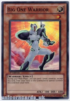 Picture of DP10-EN015 Big One Warrior Super Rare 1st Edition Mint YuGiOh Card