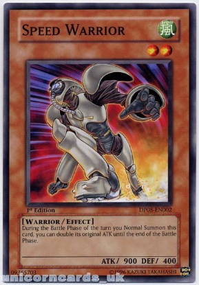 Picture of DP08-EN002 Speed Warrior 1st Edition Mint YuGiOh Card