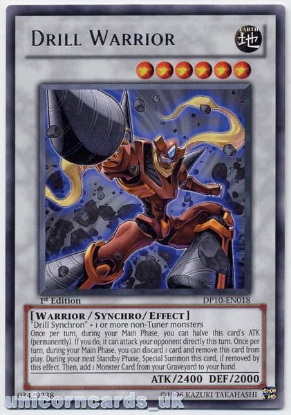 Picture of DP10-EN018 Drill Warrior Rare 1st Edition Mint YuGiOh Card